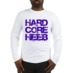 Hard Core Hebrew Rough Blue Long Sleeve T-Shirt