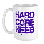 Hard Core Hebrew Rough Blue Large Mug