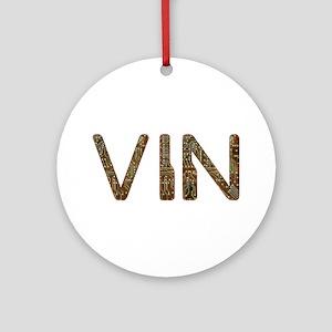 Vin Circuit Round Ornament