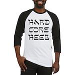 Hard Core Hebrew Shalom B&W Baseball Jersey