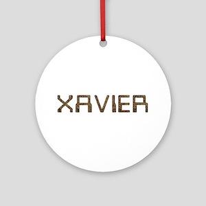 Xavier Circuit Round Ornament