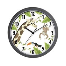 Jungle Animal Wall Clock