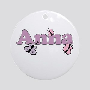 Anna Butterfly Ornament (Round)