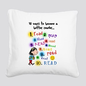 better reader Square Canvas Pillow