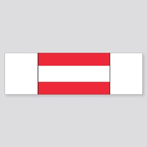 Austria - National Flag - Current Sticker (Bumper)