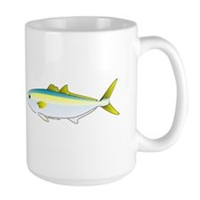 California Yellowtail fish Large Mug