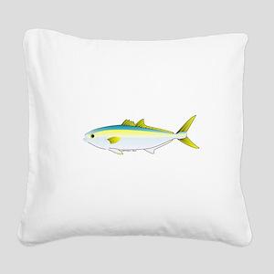 California Yellowtail fish Square Canvas Pillow