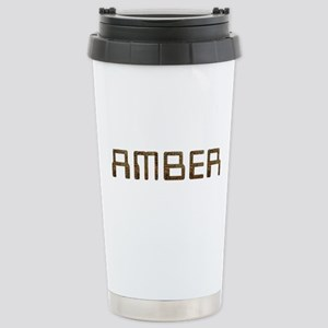 Amber Circuit Stainless Steel Travel Mug