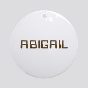 Abigail Circuit Round Ornament