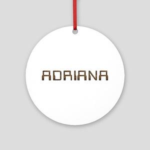 Adriana Circuit Round Ornament