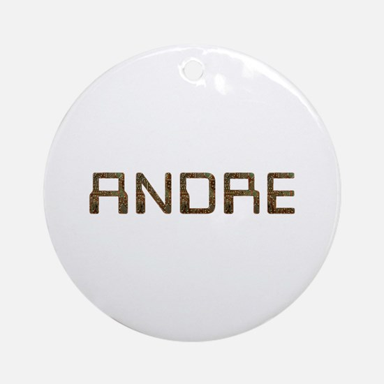 Andre Circuit Round Ornament