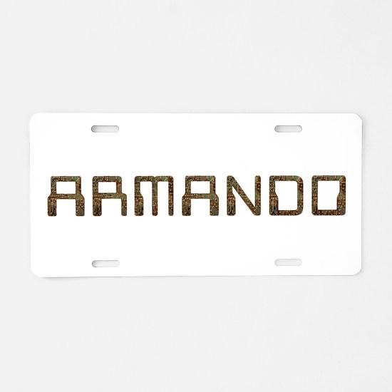 Armando Circuit Aluminum License Plate