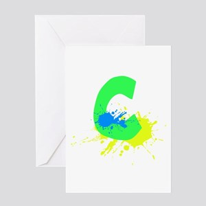 Letter C Paint Greeting Card
