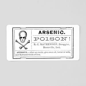 Arsenic Label Aluminum License Plate
