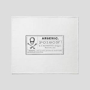 Arsenic Label Throw Blanket