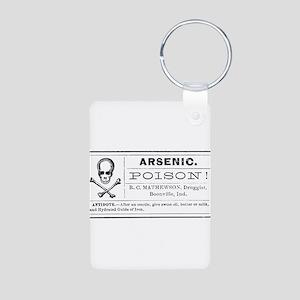 Arsenic Label Aluminum Photo Keychain