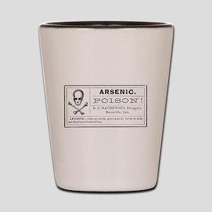 Arsenic Label Shot Glass