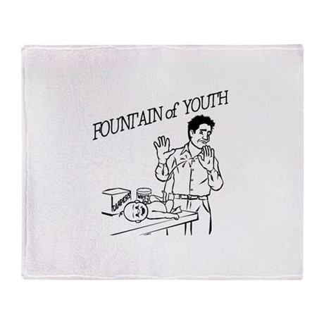 """Fountain of Youth"" Throw Blanket"