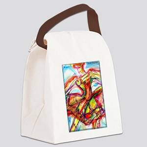 Abstract dancer! Colorful art! Canvas Lunch Bag