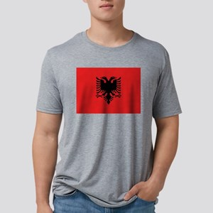 Albania - National Flag - Current Mens Tri-blend T