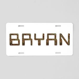 Bryan Circuit Aluminum License Plate