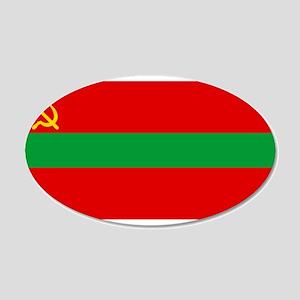 Transnistria - National Flag - Current 20x12 Oval