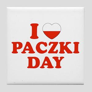 I Heart Paczki Day Tile Coaster