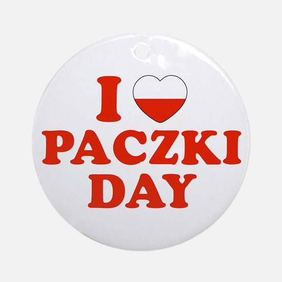 I Heart Paczki Day Ornament (Round)