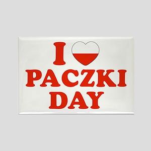 I Heart Paczki Day Rectangle Magnet