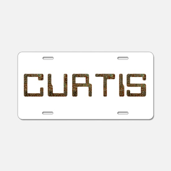 Curtis Circuit Aluminum License Plate