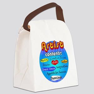 artist contents-dark Canvas Lunch Bag
