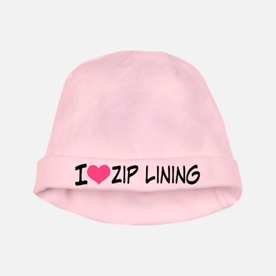 I Heart Zip Lining baby hat