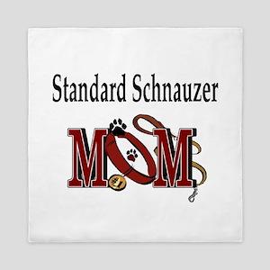 Standard Schnauzer Mom Queen Duvet
