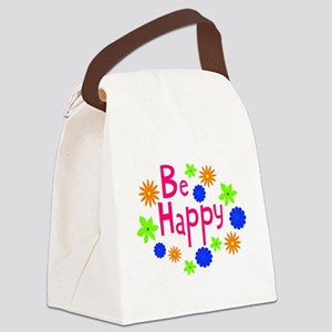 Be happy Canvas Lunch Bag