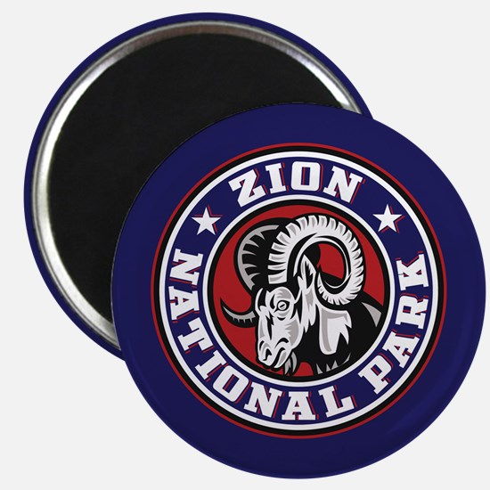 Zion Ram Circle Magnet