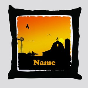 Sunrise at the Farm Throw Pillow
