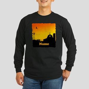 Sunrise at the Farm Long Sleeve Dark T-Shirt