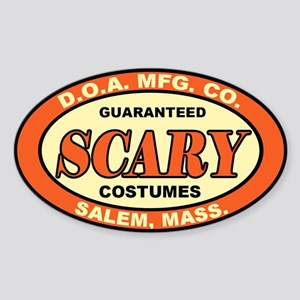 ScARy COsTuMEs Oval Sticker