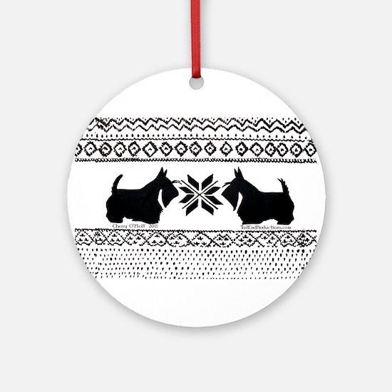 Scottie Sweater Pattern Ornament