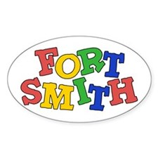 Fort Smith (colors) Oval Sticker