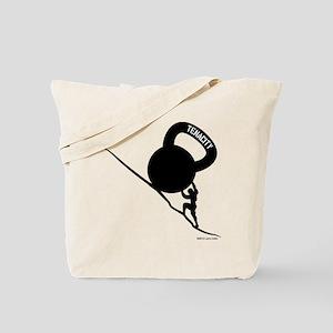 Sisyphus Kettlebell Tenacity Tote Bag