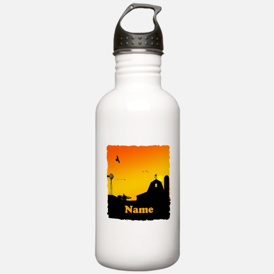 Sunrise at the Farm Water Bottle