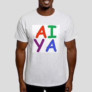 Aiya! Ash Grey T-Shirt