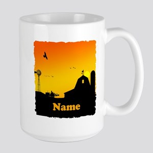 Sunrise at the Farm Large Mug