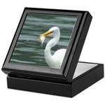 Great Egret with Fish Keepsake Box