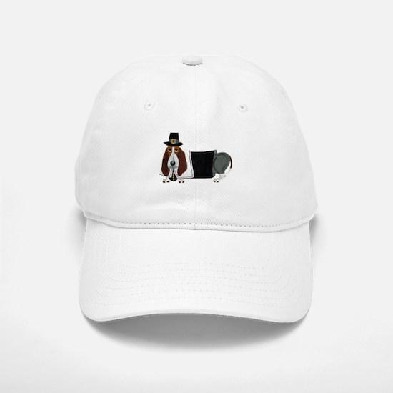 Basset Hound Thanksgiving Pilgrim Baseball Baseball Cap