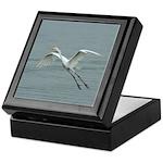 Great Egret Flying Keepsake Box