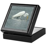 Great Egret Drinking Keepsake Box
