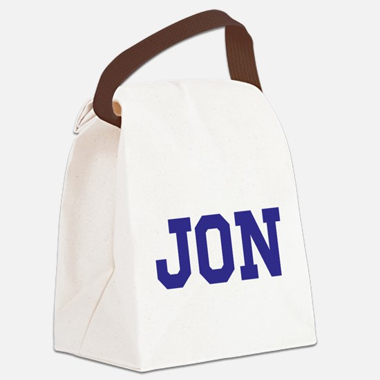 Jon centered Canvas Lunch Bag