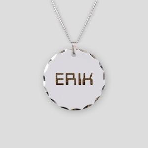 Erik Circuit Necklace Circle Charm